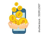 deal in mobile commerce.... | Shutterstock .eps vector #533911507