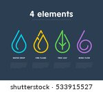 nature elements. water  fire ... | Shutterstock .eps vector #533915527