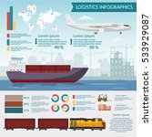 logistics infographic elements... | Shutterstock .eps vector #533929087