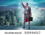 businessman in superhero... | Shutterstock . vector #533934517