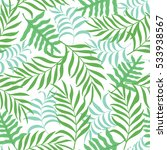 tropical background with palm... | Shutterstock .eps vector #533938567