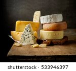 various types of cheese on... | Shutterstock . vector #533946397