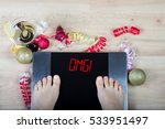 digital scales with female feet ... | Shutterstock . vector #533951497