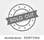 sold out. gray stamp sign | Shutterstock .eps vector #533971963