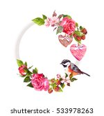 vintage floral wreath for... | Shutterstock . vector #533978263