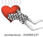 heart on fire | Shutterstock .eps vector #533985157