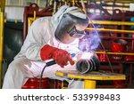 welding man working in factory   Shutterstock . vector #533998483