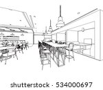 interior outline sketch drawing ... | Shutterstock .eps vector #534000697