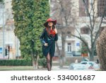 two pretty girls walking in the ... | Shutterstock . vector #534001687