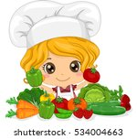 illustration of a cute little... | Shutterstock .eps vector #534004663