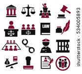 attorney  court  law icon set | Shutterstock .eps vector #534005893