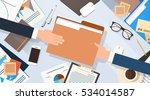 hands give folder document... | Shutterstock .eps vector #534014587