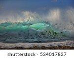 beautiful stormy ocean wave.... | Shutterstock . vector #534017827