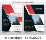 red theme vector annual report... | Shutterstock .eps vector #534020203