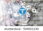 medicine health care caduceus... | Shutterstock . vector #534021133