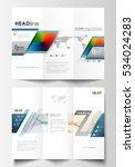 tri fold brochure business... | Shutterstock .eps vector #534024283