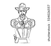 isolated cowboy cartoon design | Shutterstock .eps vector #534026557