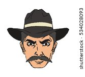 isolated cowboy cartoon design | Shutterstock .eps vector #534028093