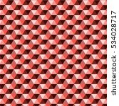 red shade in triangle pattern... | Shutterstock .eps vector #534028717