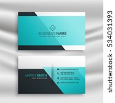 elegant business card design... | Shutterstock .eps vector #534031393