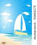 boat on sea   Shutterstock .eps vector #53403175