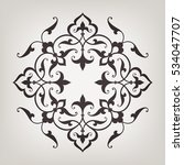 circular abstract floral... | Shutterstock .eps vector #534047707