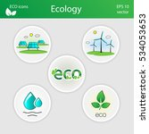 collection of ecological icons. ...   Shutterstock .eps vector #534053653