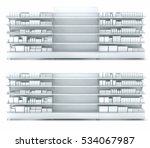 store shelves with empty... | Shutterstock . vector #534067987