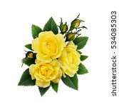 Yellow Rose Flowers Arrangemen...
