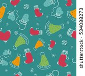 seamless pattern with christmas ...   Shutterstock .eps vector #534088273