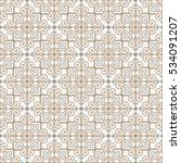 ornamental seamless vector... | Shutterstock .eps vector #534091207