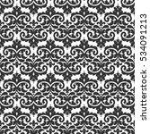 elegant damask wallpaper.... | Shutterstock .eps vector #534091213