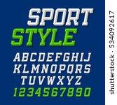 sport style retro font on dark... | Shutterstock .eps vector #534092617