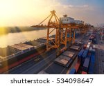 container container ship in... | Shutterstock . vector #534098647