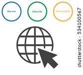 web icon vector flat design... | Shutterstock .eps vector #534100567
