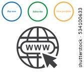 website icon vector flat design ... | Shutterstock .eps vector #534100633
