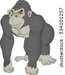 cute gorilla cartoon | Shutterstock . vector #534101257