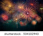 multicolor firework celebration ... | Shutterstock . vector #534102943