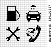 gas station  service icons set | Shutterstock .eps vector #534103537