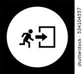 exit    black vector icon | Shutterstock .eps vector #534104557