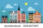 city town. luxury old fashioned ... | Shutterstock . vector #534107407