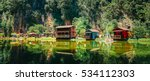 wooden house at ipoh lake ... | Shutterstock . vector #534112303