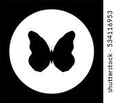 butterfly    black vector icon | Shutterstock .eps vector #534116953