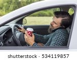 young man speaking on phone and ...   Shutterstock . vector #534119857