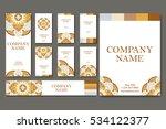 set of business cards. vintage... | Shutterstock .eps vector #534122377