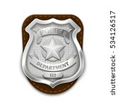 silver steel police  security... | Shutterstock . vector #534126517