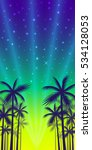 the shadows of palm trees on a... | Shutterstock .eps vector #534128053