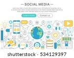 vector modern line flat design... | Shutterstock .eps vector #534129397