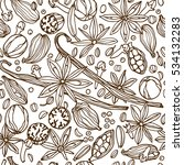vector seamless pattern with... | Shutterstock .eps vector #534132283