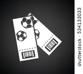 two football tickets icon.... | Shutterstock .eps vector #534133033